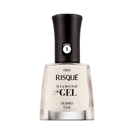 Esmalte-Risque-Diamond-Gel-Cha-Branco