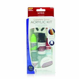 Kit-para-Aplicacao-de-Unhas-Acrilicas-First-Kiss-Complete-Salon-Acrylic